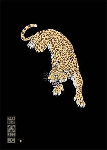 Prowling Leopard Greetings Card