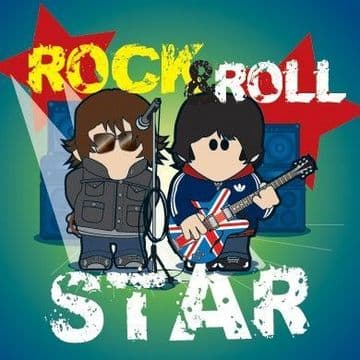 Rock and Roll Star Greetings Card