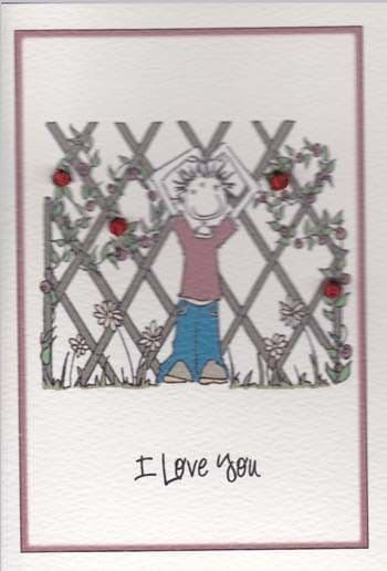 Rose Fence Greetings Card