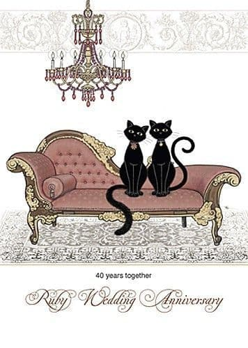 Ruby Anniversary Chaise Greetings Card