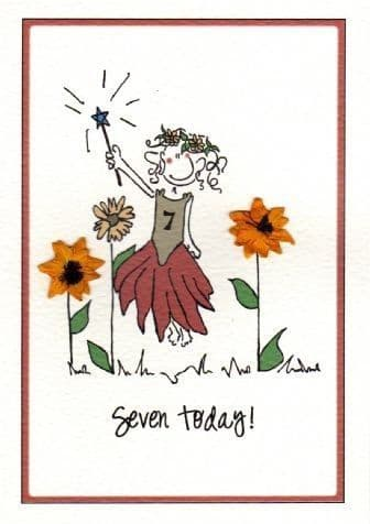 Seven Today (Female) Birthday Card