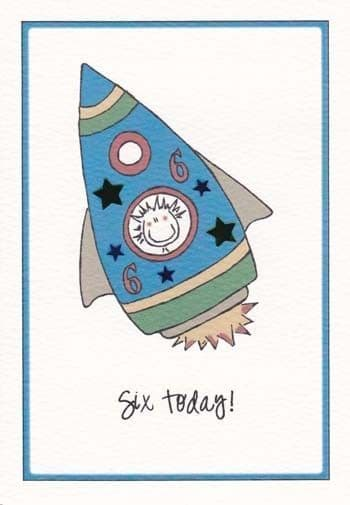 Six Today (Male) Birthday Card