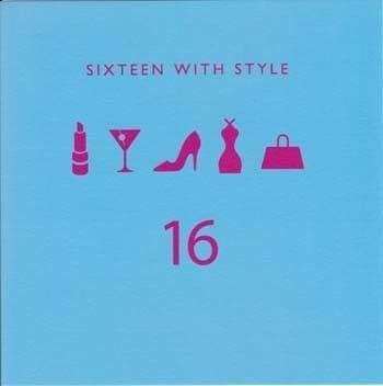 Sixteen with Style Birthday Card
