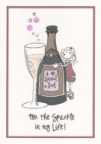Sparkle in my Life Greetings Card