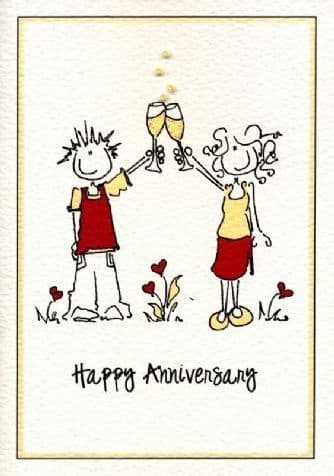 Sparkly Anniversary Greetings Card
