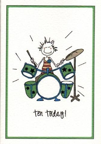 Ten Today (Male) Birthday Card