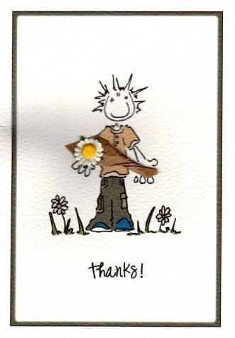 Thank You Flower Greetings Card