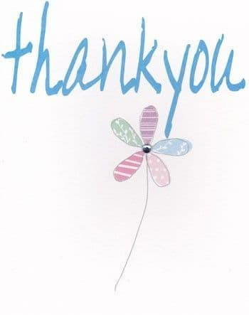 Thank You, Flower Greetings Card