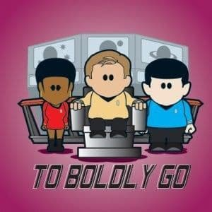 To Boldly Go Greetings Card