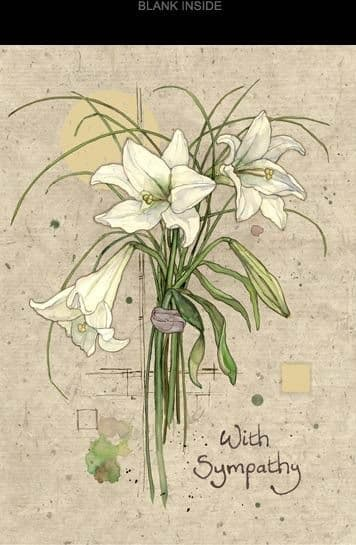 White Lilies Greetings Card
