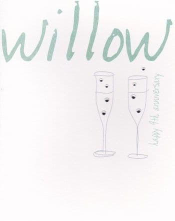 Willow Greetings Card