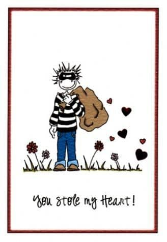 You Stole My Heart Greetings Card