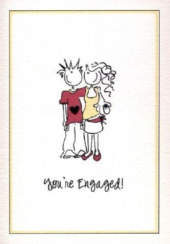 You're Engaged Greetings Card