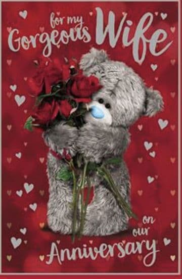 Anniversary Wife Bear and Roses (3D )