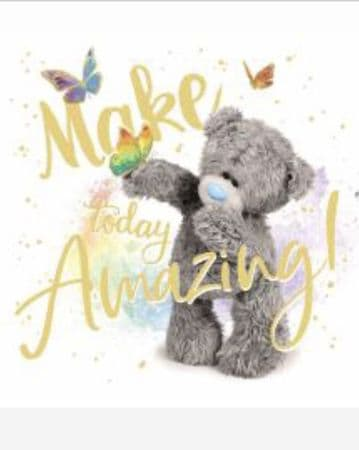 Birthday Bear with Butterfly ( 3D )
