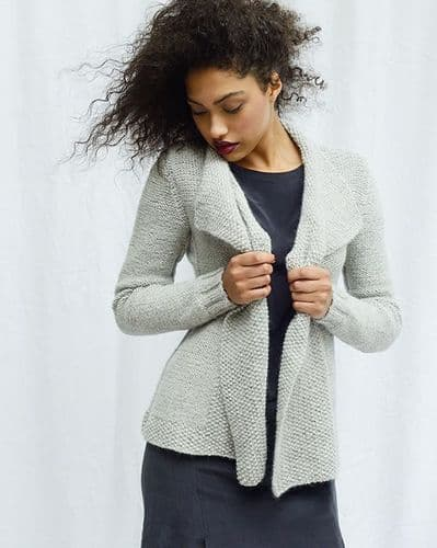 Mdina Panel Cardigan Knitting Kit