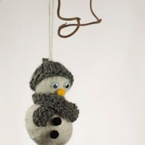 Snowman Wet Felting Pattern