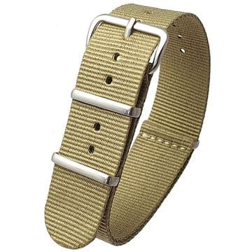 NATO G10 Khaki Nylon Watch Strap Band Stainless Steel Buckle Size 16mm-24mm