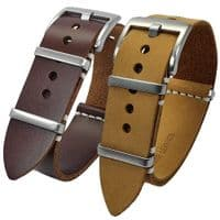 NATO Leather Watch Straps