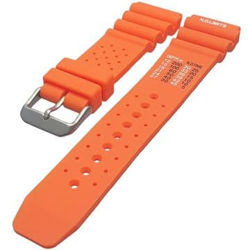ND Limits Orange Silicone Divers Watch Strap Size 18mm-24mm