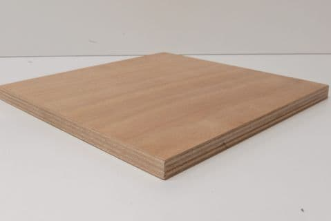 Marine Ply Sheet 600mm x 600mm Gaboon (Okoume) Throughout BS1088 WBP
