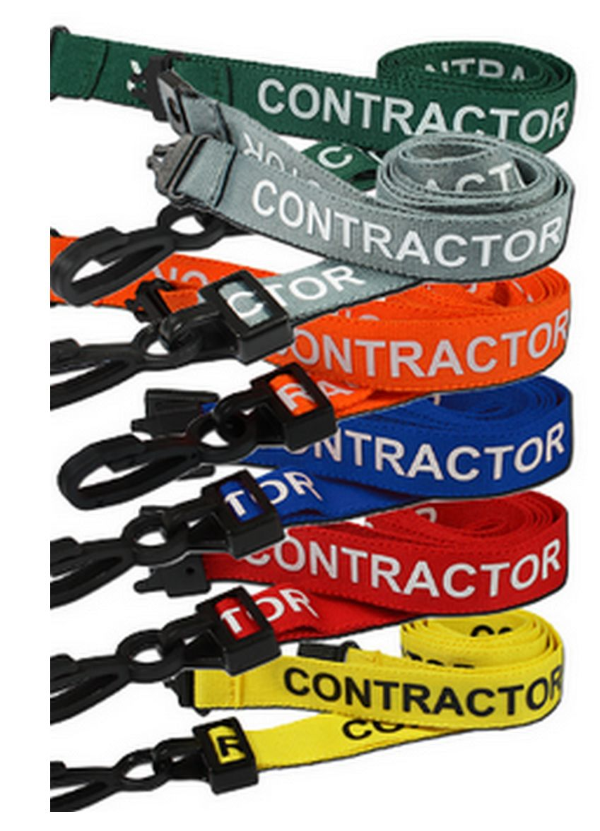 CONTRACTOR PRE PRINTED NECK ID LANYARDS