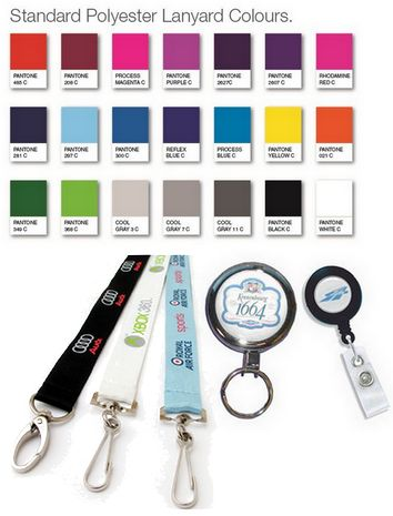 CUSTOM PRINTED LANYARDS & BADGE REELS