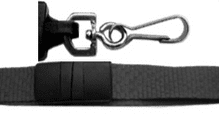 DELUXE  -  NECK STRAP LANYARD ID CARD BADGE HOLDER METAL CLIP 15mm - 3890