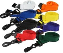 DELUXE -  NECK STRAP LANYARD ID CARD BADGE HOLDER PLASTIC CLIP 15mm wide