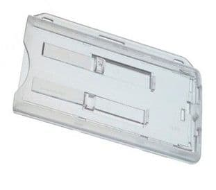 DOUBLE ID CARD HOLDER TWO EXTRACTOR SLIDES