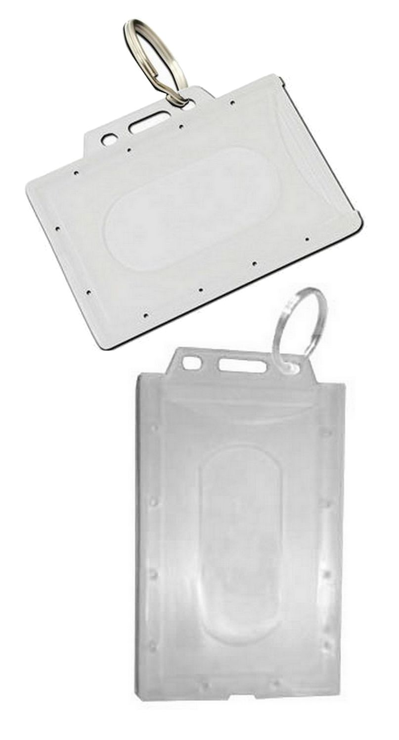 ENCLOSED FLEXIBLE FUEL ID CARD HOLDER WITH KEYRING