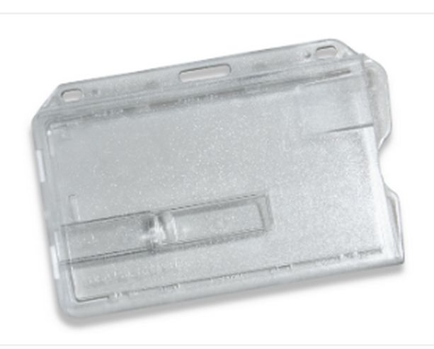 ENCLOSED ID CARD HOLDER WITH ONE EXTRACTOR SLIDE