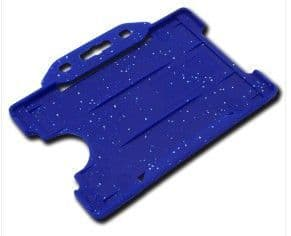 FOOD INDUSTRY METAL DETECTABLE OPEN FACED ID CARD HOLDERS BLUE Pack of 100