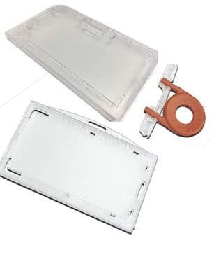 LOCKABLE ENCLOSED ID CARD HOLDER WITH KEY - 4490