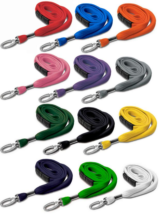 PLAIN NECK STRAP LANYARD WITH METAL SWIVEL CLIP - 10mm wide