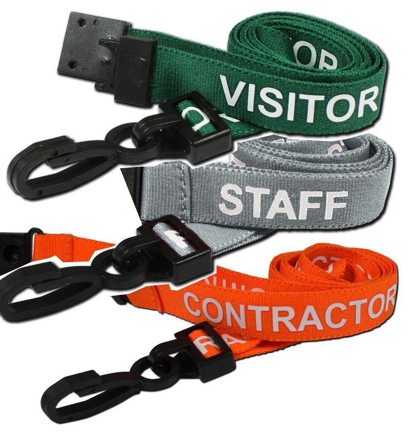 PRE-PRINTED NECK ID LANYARDS