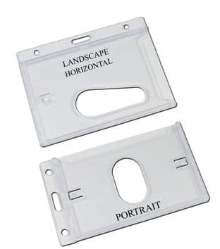RIGID ENCLOSED ID CARD HOLDERS WITH THUMB SLOT