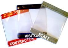 VISITOR PAPER PASS HOLDER - PRE PRINTED