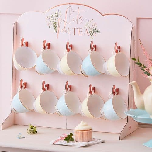 Afternoon Tea Stand Tea Cup Holder Rose Gold Lets Partea for 10 Cups