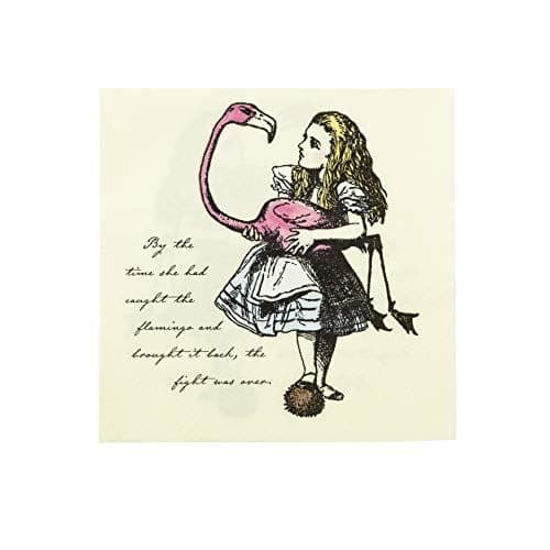 Alice In Wonderland Themed Paper Party Napkins x 20 - 33 x 33cm 3 ply