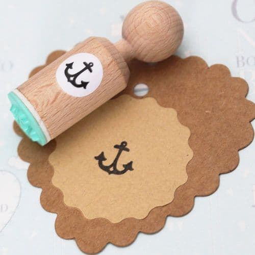 Anchor Rubber Stamp Round - VERY MINI - Craft / Scrapbooking