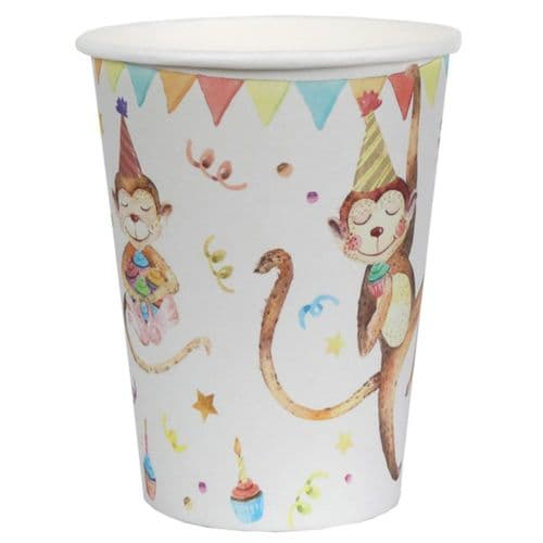 Animals in Party Hats Birthday Paper Cups x 10