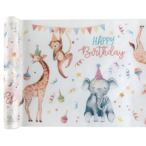 Animals in Party Hats Table Runner 5m