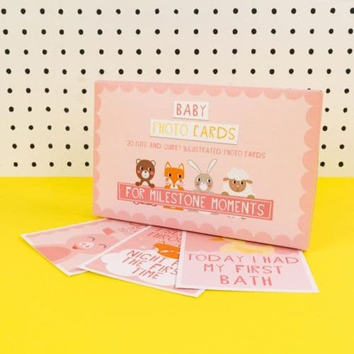 Baby Milestone Cards PINK Set of 20 Beautiful Cards with Memories