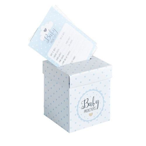 Baby Shower Prediction Cards and Post Box BLUE x 20