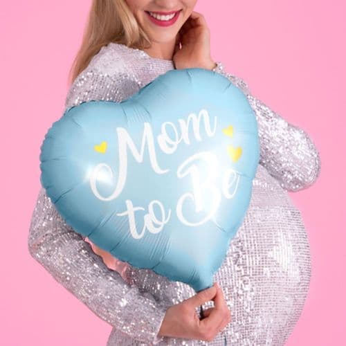 Blue Mom to Be Foil Baby Shower Balloon
