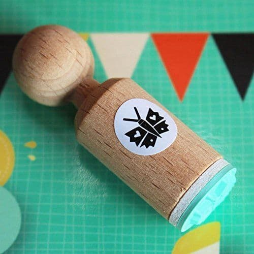 Butterfly Very Mini Wooden Rubber Craft Stamp / Scrapbooking