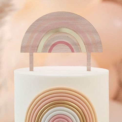 Cake Topper - Happy Everything - Wooden