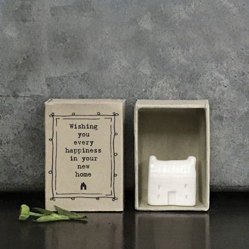 East of India Matchbox Wishing you every happiness in your new home MINI