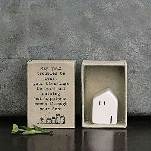East of India MINI Matchbox House May Your Troubles be less